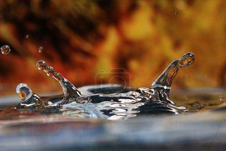 Photo pour Chute goutte d'eau gros plan - image libre de droit