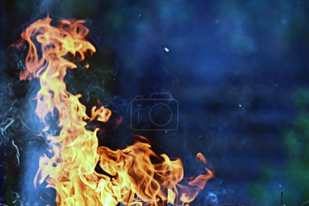 Photo for Orange fire texture background - Royalty Free Image