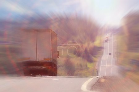 Photo pour Paysage routier de banlieue - image libre de droit