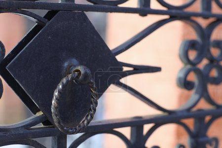 Photo for Forged lattice fence gate - Royalty Free Image