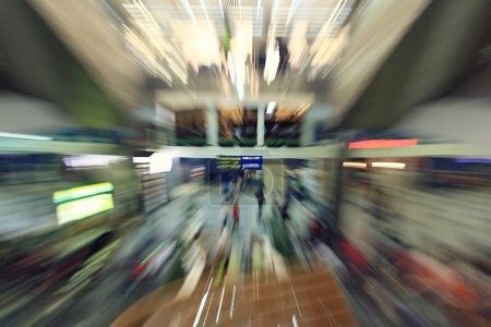 Photo for Motion blurred people in the mall speed - Royalty Free Image