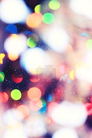Photo pour Fond de Noël flou, éblouissement des lumières, flou des lumières de Noël - image libre de droit