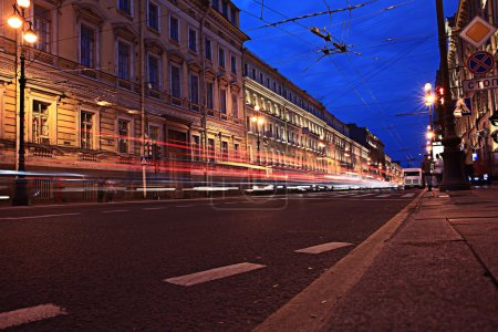 Photo for Emty street in night city - Royalty Free Image