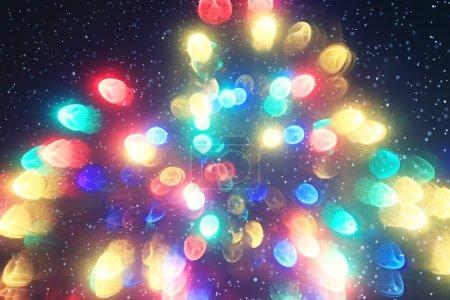 Photo pour Fond de Noël flou, éblouissement des lumières de Noël - image libre de droit