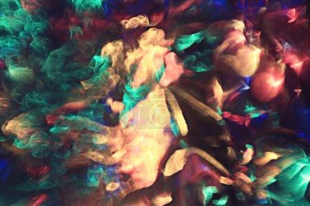 Photo pour Arrière-plan flou de Noël, reflets de lumières de Noël - image libre de droit