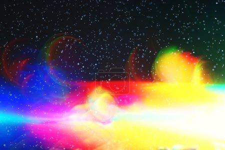 Photo pour Fond de Noël flou éblouissement des lumières lumières lumières de Noël flou - image libre de droit