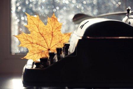 Autumn typewriter