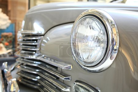 Photo for Fragment of a vintage car on the exhibition - Royalty Free Image
