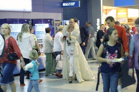 Anastasia Volochkova at   airport