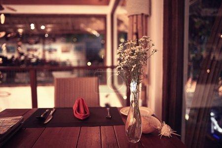 Served restaurant table