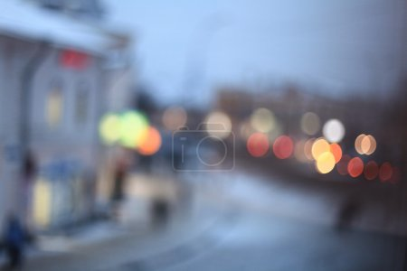 blurred lights of city