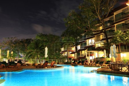 Photo for Landscape the hotel pool and bar - Royalty Free Image