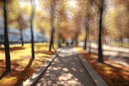 Blurred background trees