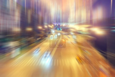 Photo for Blurred background traffic jams foggy night - Royalty Free Image