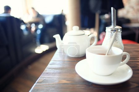 cup of tea at a cafe