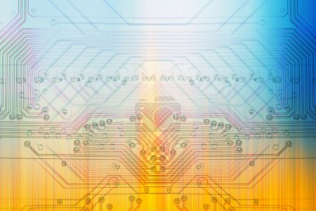 Photo for Microelectronics computer chip background - Royalty Free Image