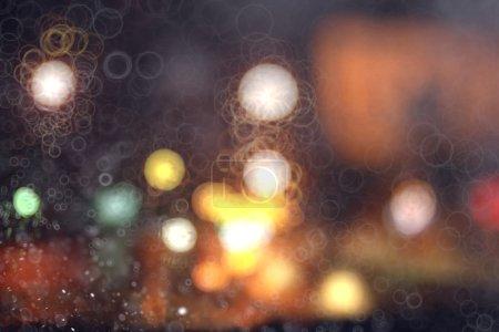 blurred background night city lights