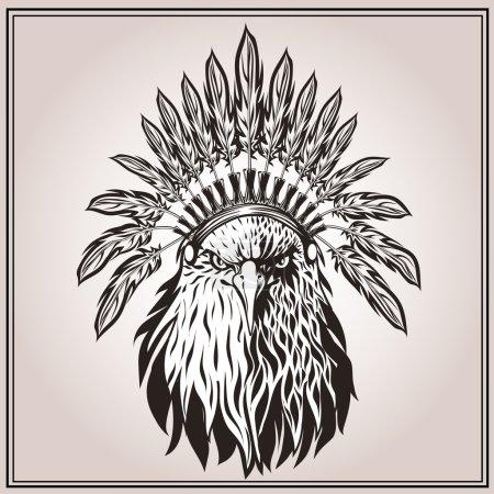 American Eagle ethnic Indian headdress feathers