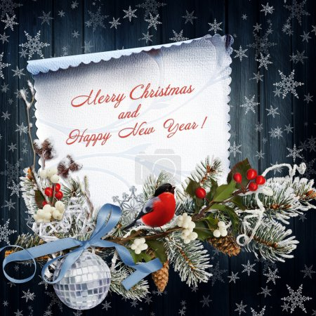 Christmas greeting background with christmas decoration