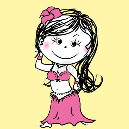 Cartoon Belly dance woman