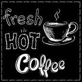 Čerstvé a horké kávy pozadí