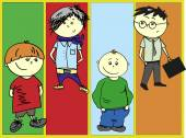Boys - vector set