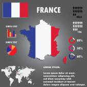 France Map Infographics Vector illustration