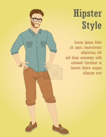 young handsome man in casual clothes or more eccentric hipster