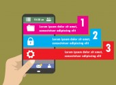 Plochý Infographics šablonu a mobilní webové prvky