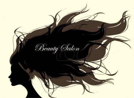 Fashion Woman with Long Hair. Vector Illustration.
