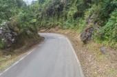 Mountain road in Peru