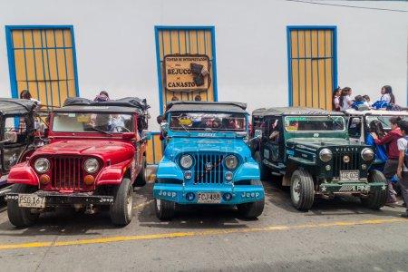 School jeeps in Filandia village