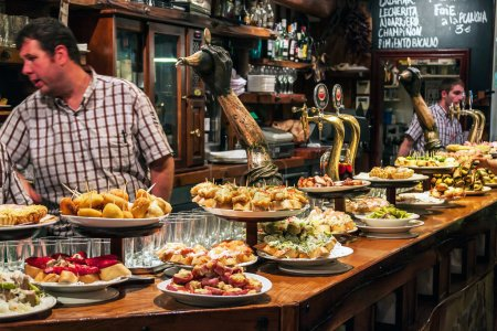 Bar with traditional pinchos