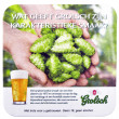 Постер, плакат: Beer coaster for advertising for Grolsch volmout