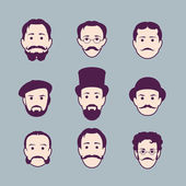 Retro Collection of diverse male faces