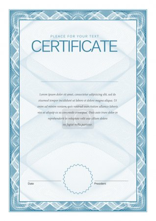 Illustration for Modern Certificate Template diplomas, currency. Vector - Royalty Free Image