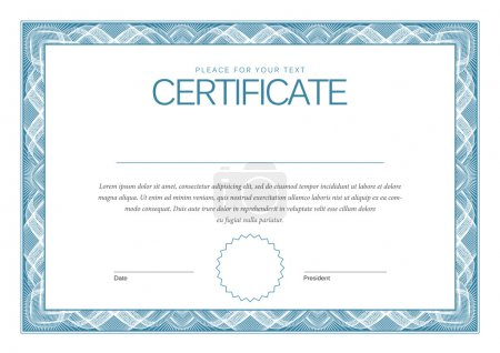 Illustration for Certificate. Modern Template diplomas, currency, Vector illustration - Royalty Free Image