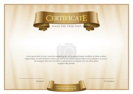 Modern Certificate. Template diplomas, currency.