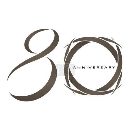 Illustration pour L'abstrait de 80 ans vecteur anniversaire - image libre de droit