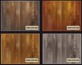 Set of four samples of the structure of wood surfaces with a variety of colors