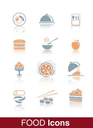 Illustration pour Vecteur alimentaire icône noire sur fond blanc - image libre de droit
