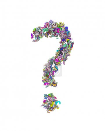 question mark consisting of the numbers,