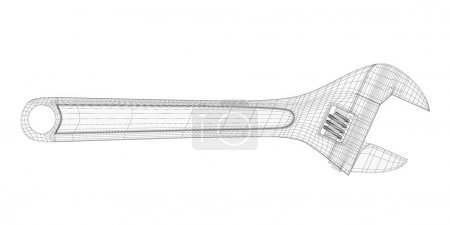 adjustable wrench isolated on a background