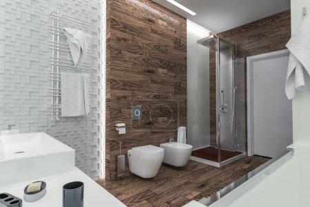 modern design of a bathroom