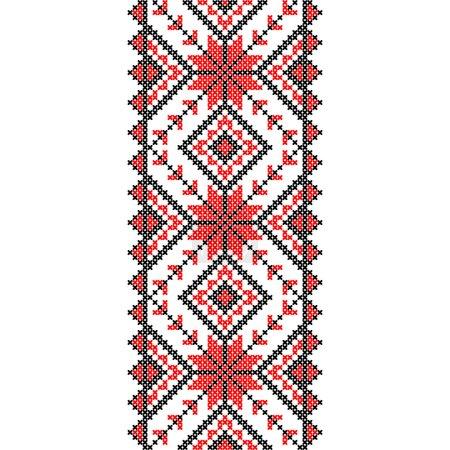 Illustration pour La broderie. Décoration nationale ukrainienne d'ornement. Illustration vectorielle - image libre de droit