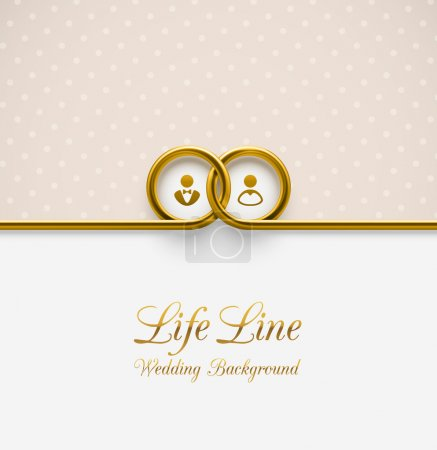 Illustration for LifeLine, wedding background, eps 10 - Royalty Free Image