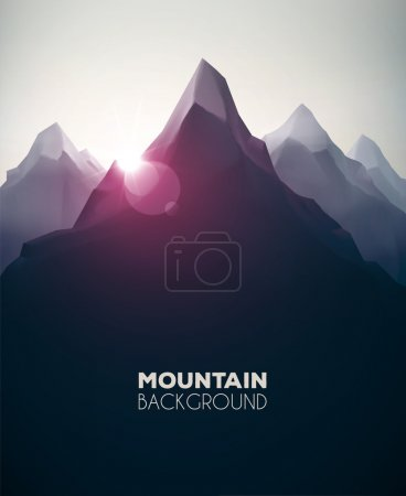 Illustration for Mountain landscape, nature background, eps 10 - Royalty Free Image