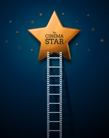Photo for Way to the stars of cinema, eps 10 - Royalty Free Image