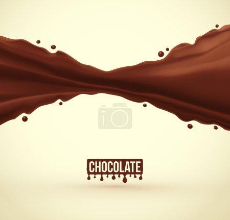 Illustration pour Fond éclaboussé au chocolat, eps 10 - image libre de droit