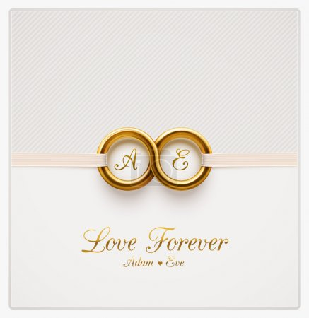 Illustration for Love forever, wedding invitation, eps 10 - Royalty Free Image
